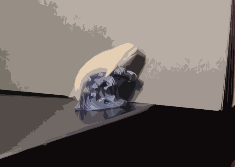 The photo of the still life using a photoshop cut out filter.
