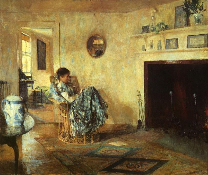 Frank W_ Benson - 1906 rainy day