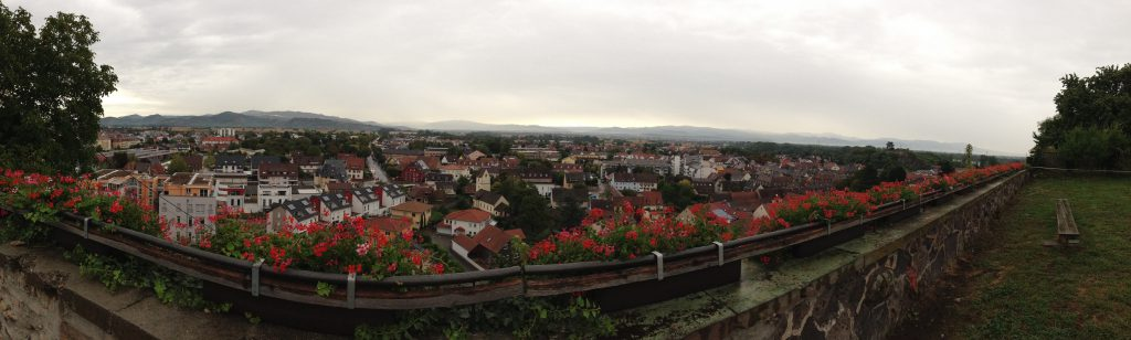 Breisach Germany and Colmar France view
