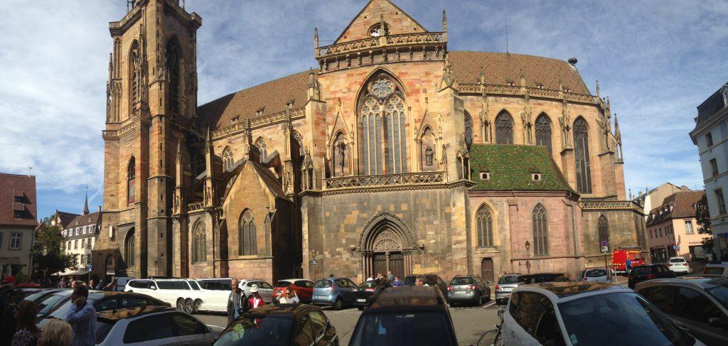 Breisach Germany and Colmar France st martins church