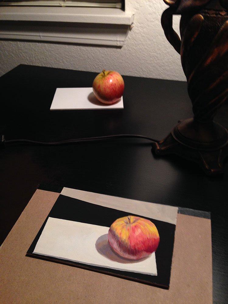gouache travel test painting setup by chris beaven