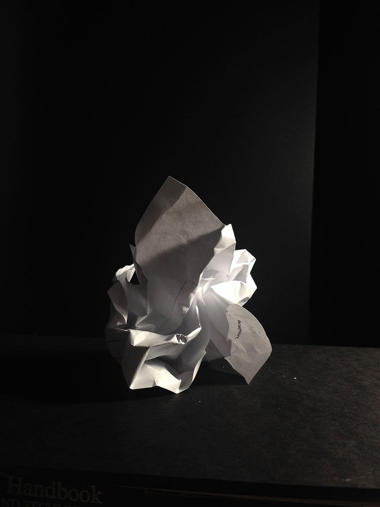 a paper ball clearly showing planes of value