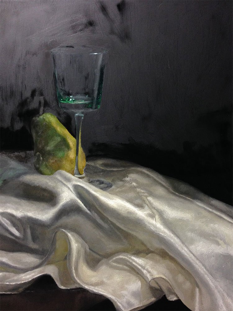 Still life with pear: finally finished