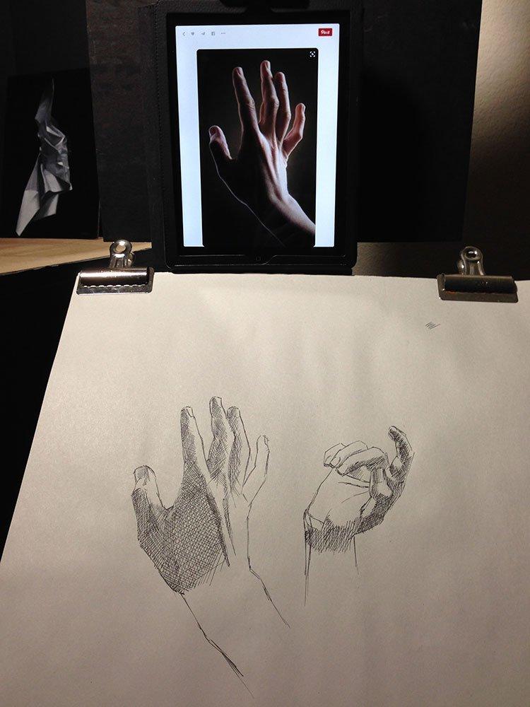 Hands Study Setup