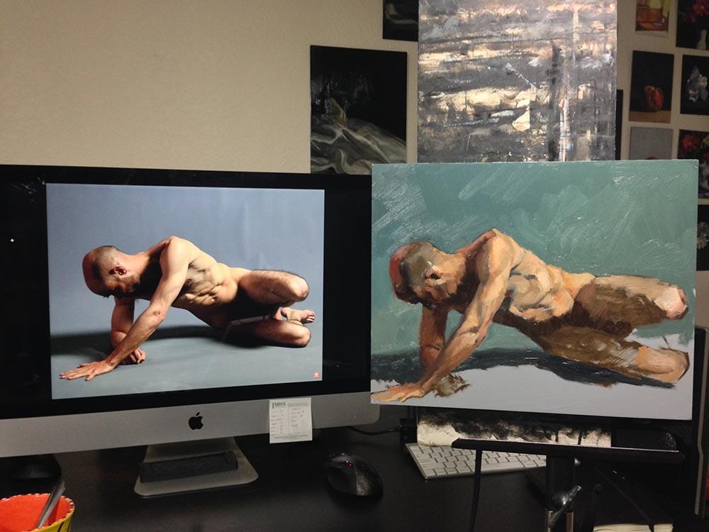 Figure Sketch in Oil setup photo