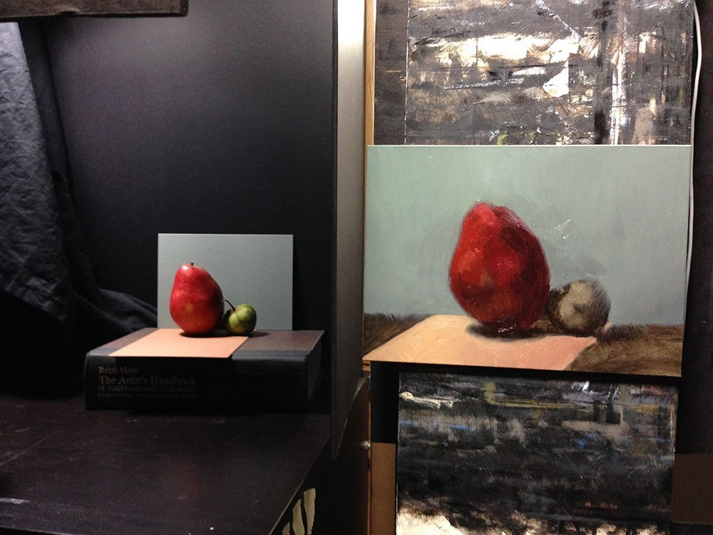 Failed Red Pear Painting, setup