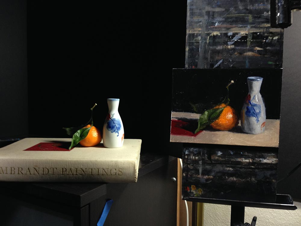 Life Drawing and Oil Painting Productive Day, setup