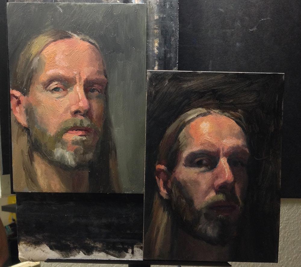 A better self portrait, comparison with previous self portrait