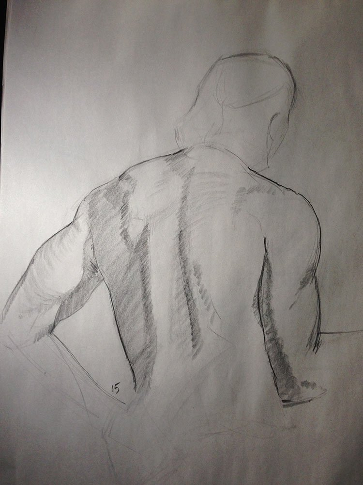 life drawing: 15 minute pose