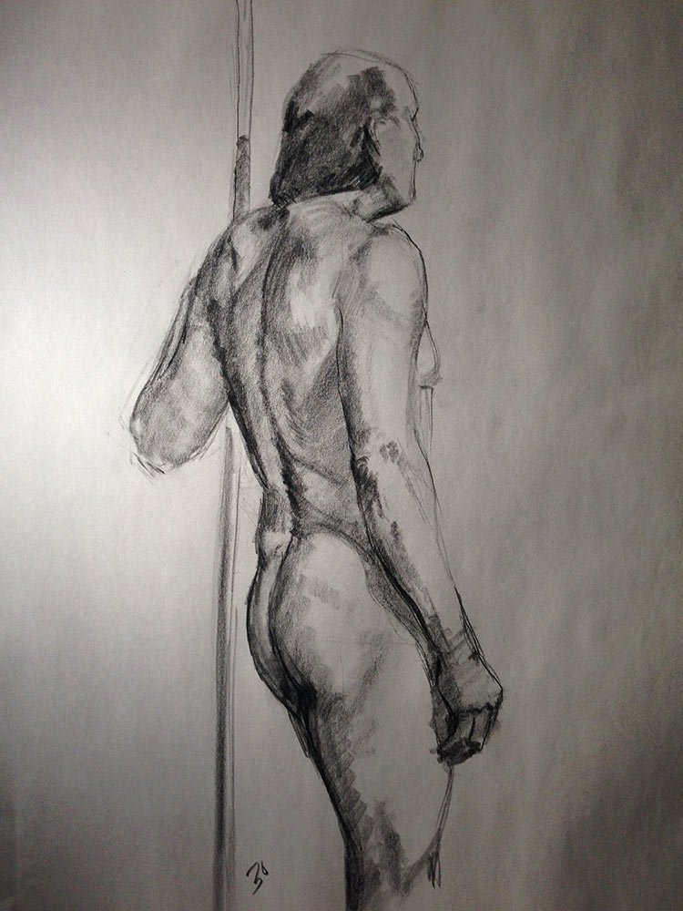 life drawing: 30 minute pose