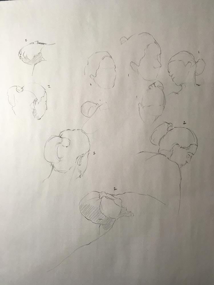 Life Drawing, 1-2 min poses