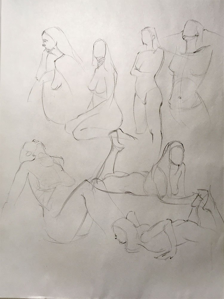 Life Drawing, gestures