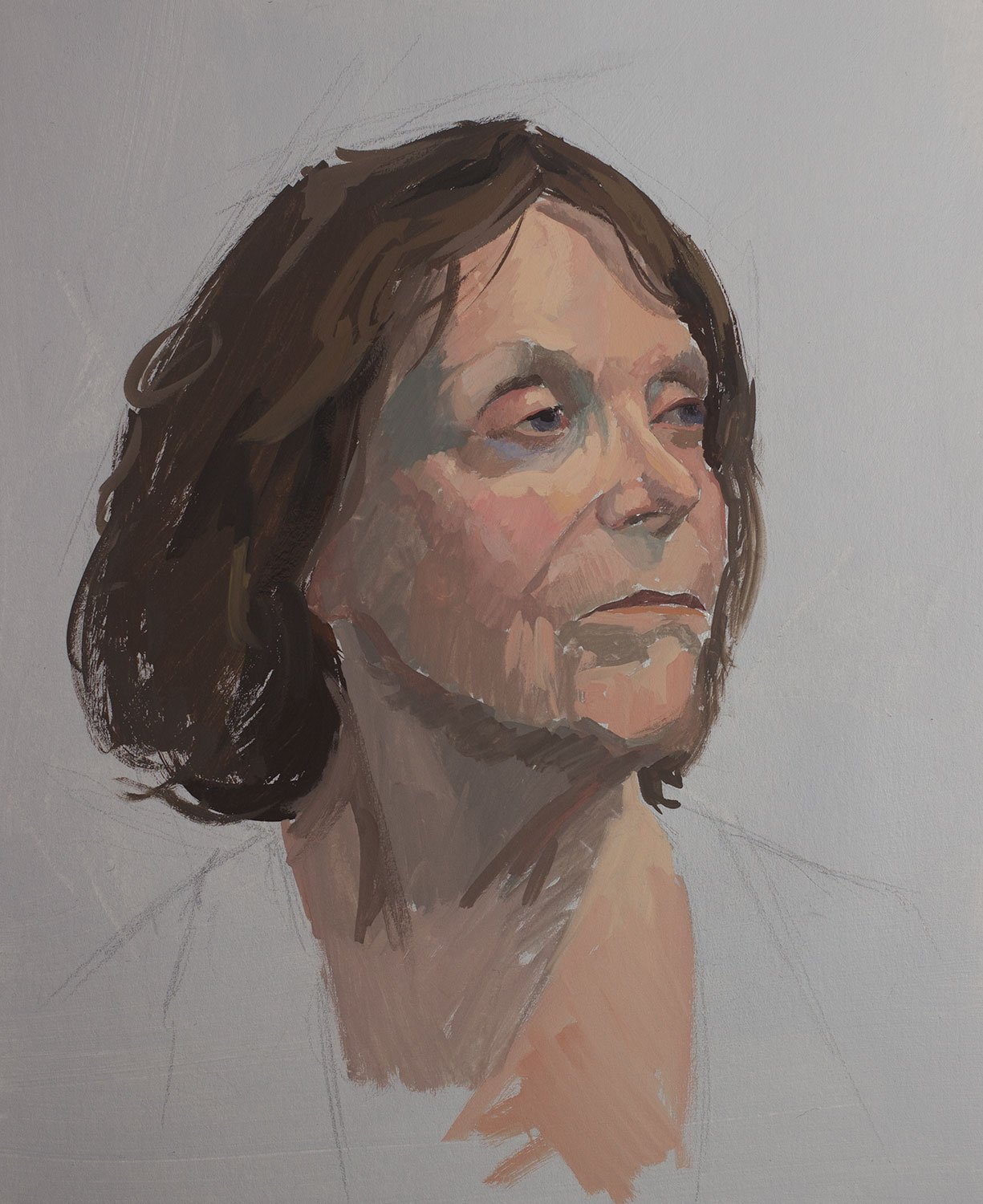 Life Drawing: Gouache Portrait