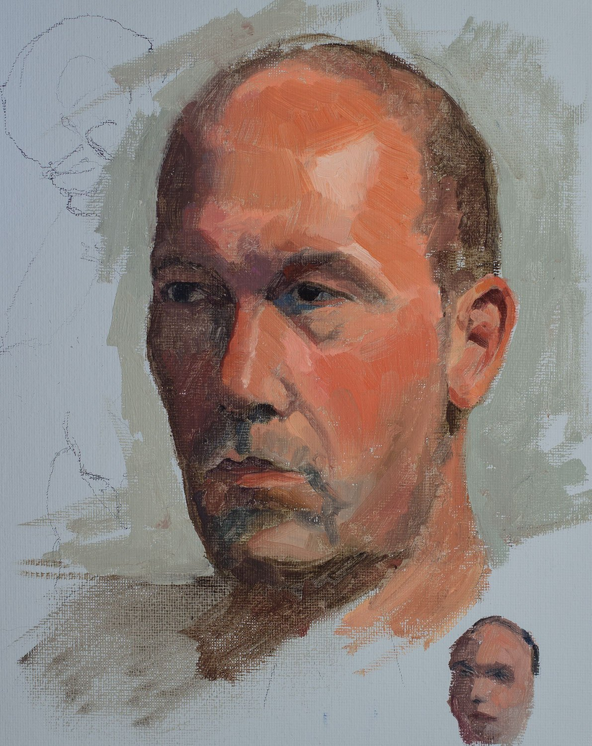 Life Drawing: Portrait in Oil
