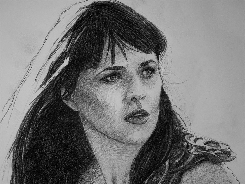 xena drawing almost done