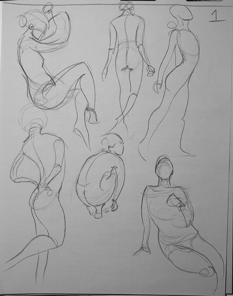 Gestures in Charcoal