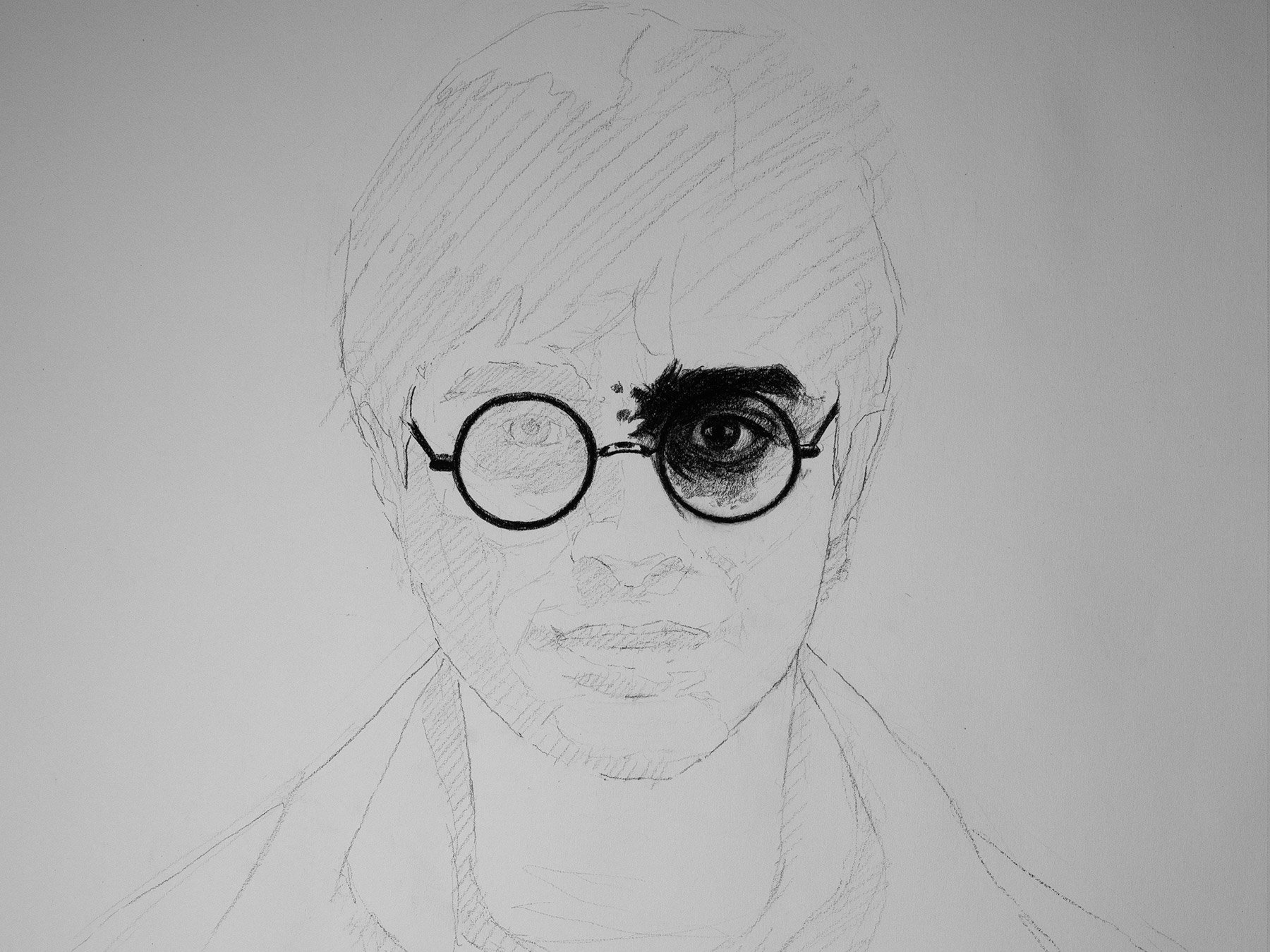 Harry Potter in charcoal cover