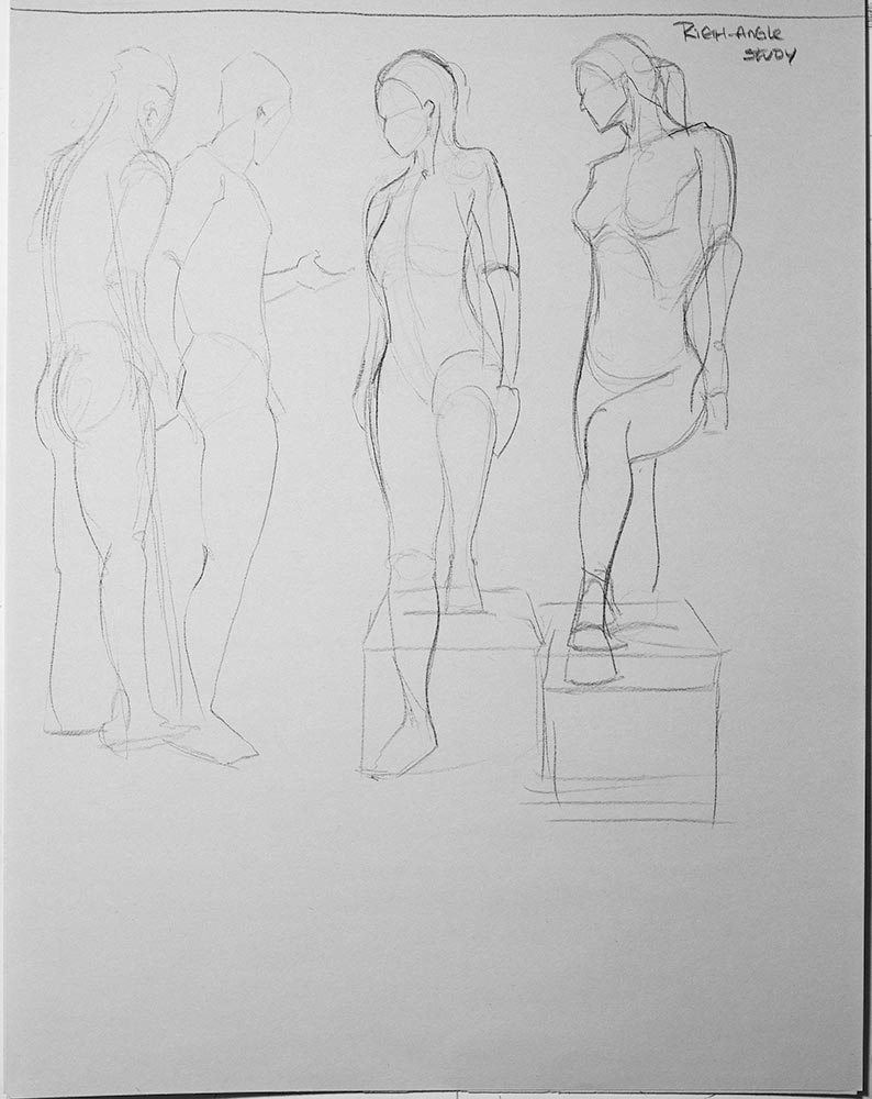 right angle study drawing