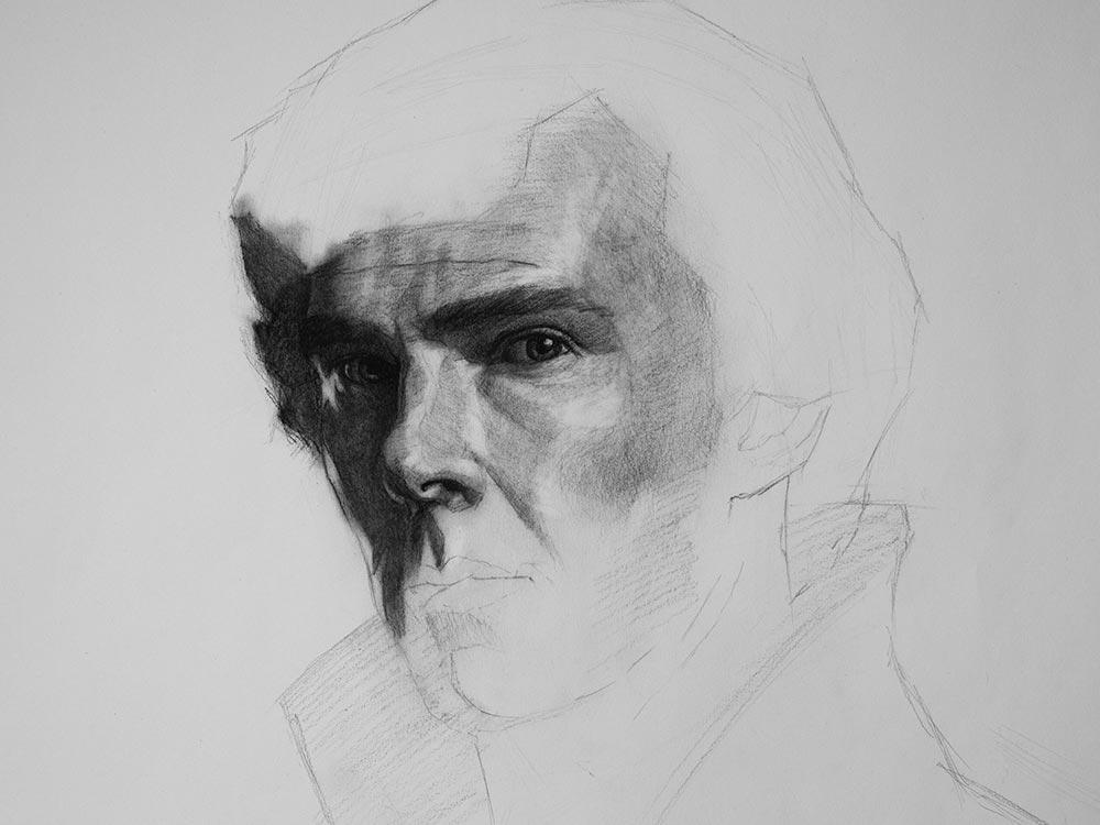 sherlock charcoal drawing cover