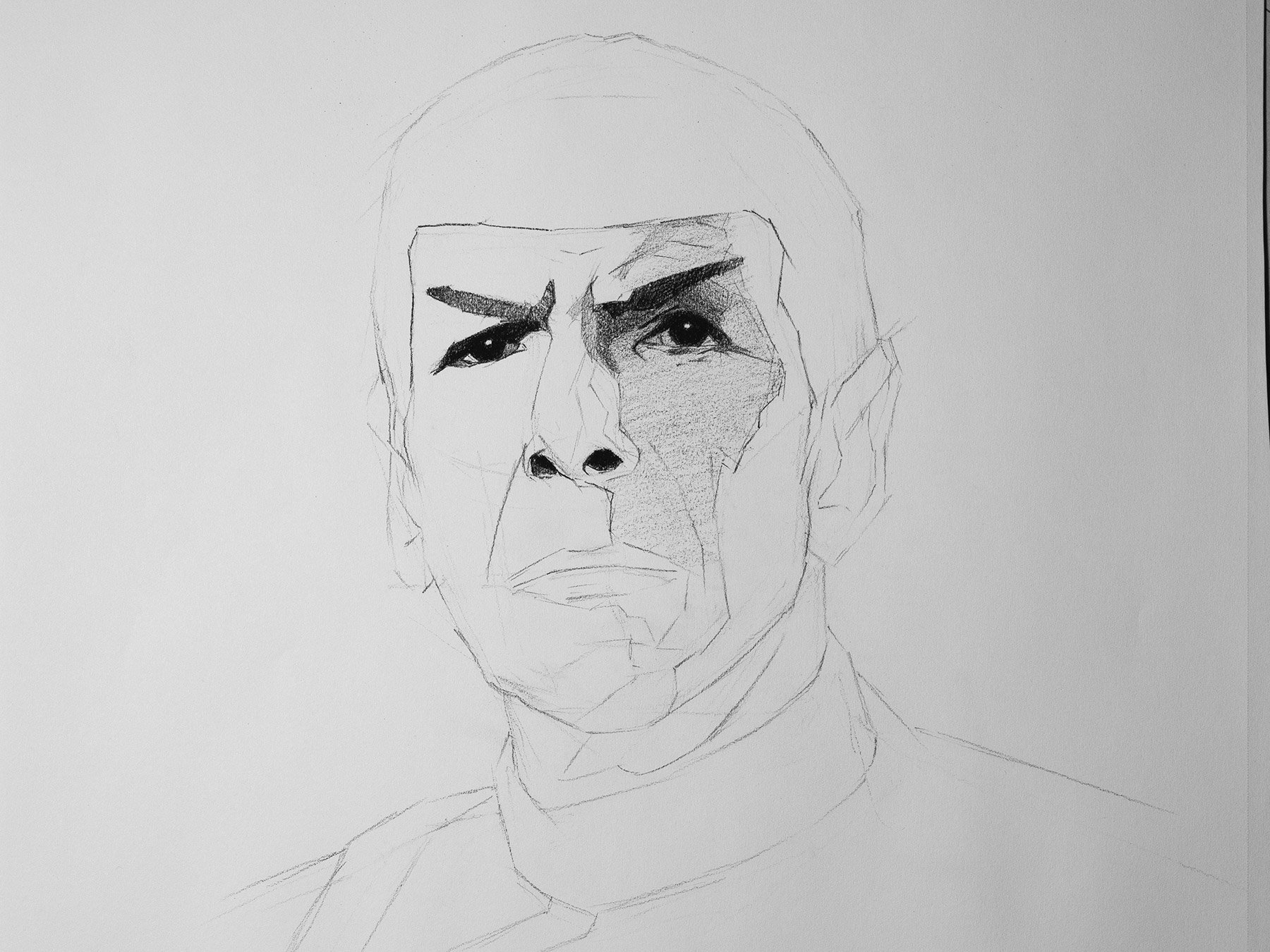 Mr. Spock dawing cover