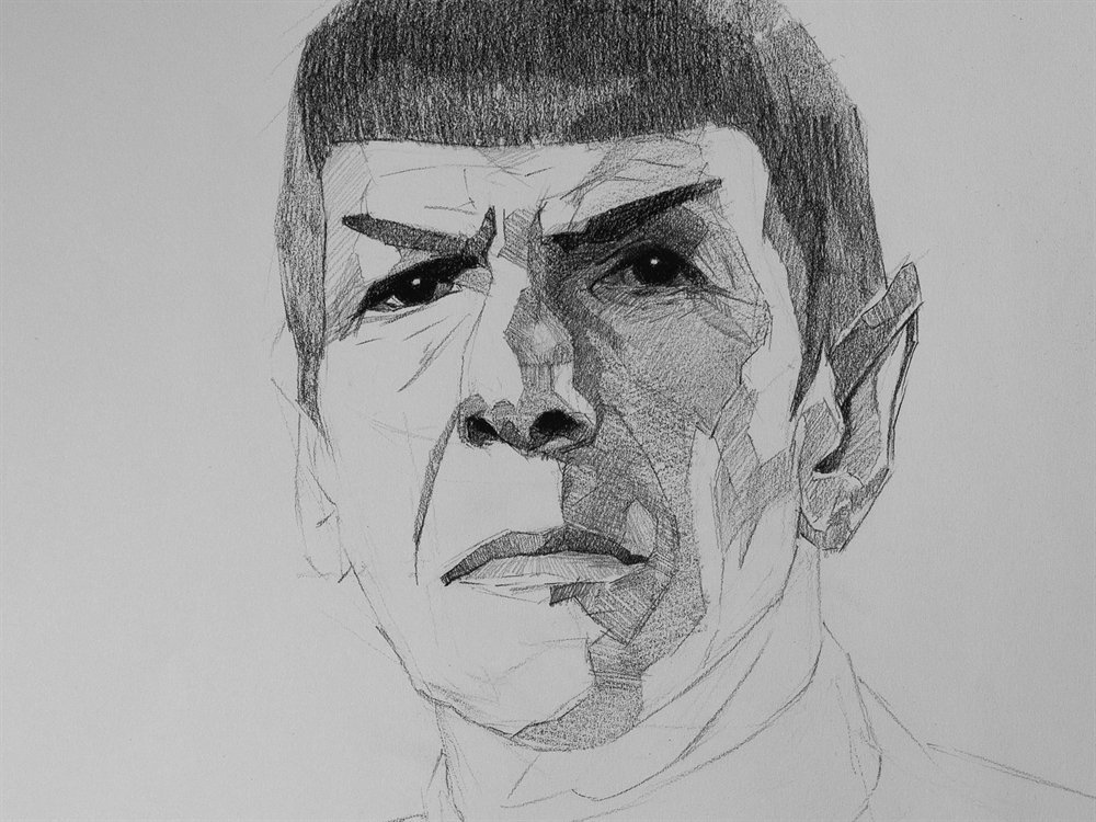 spock drawing cover