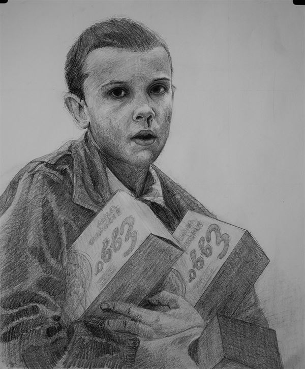 Eleven from Stranger Things by Chris Beaven