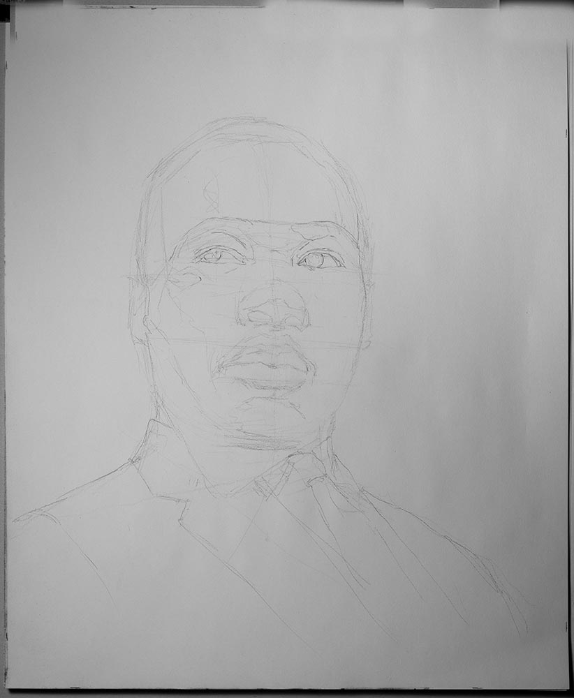 Dr Martin Luther King Jr Drawing