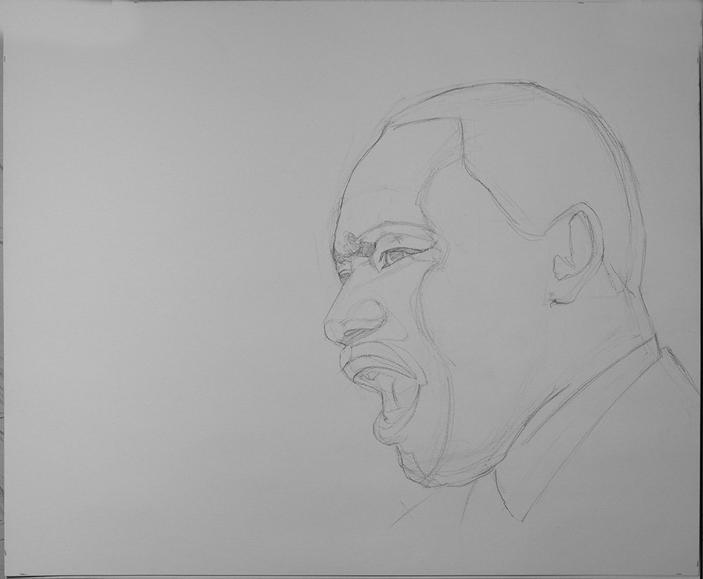Martin Luther King Jr Speech drawing