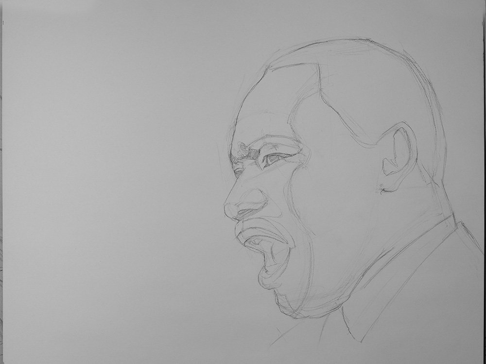 Martin Luther King Jr Speech drawing cover