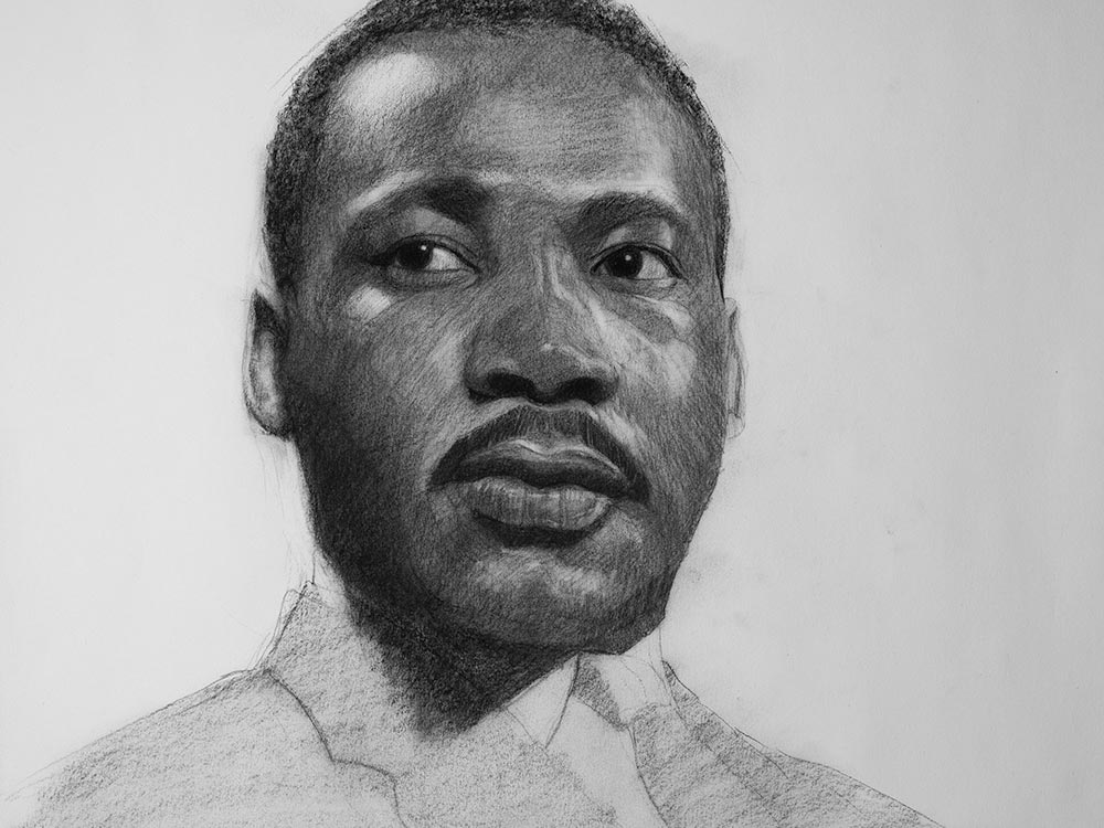 Martin luther king jr drawing cover