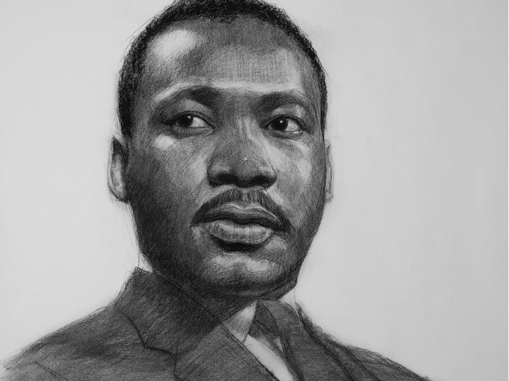 Dr Martin Luther King Jr Drawing cover