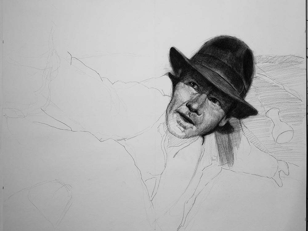 Indiana Jones Fandom fitness drawing cover