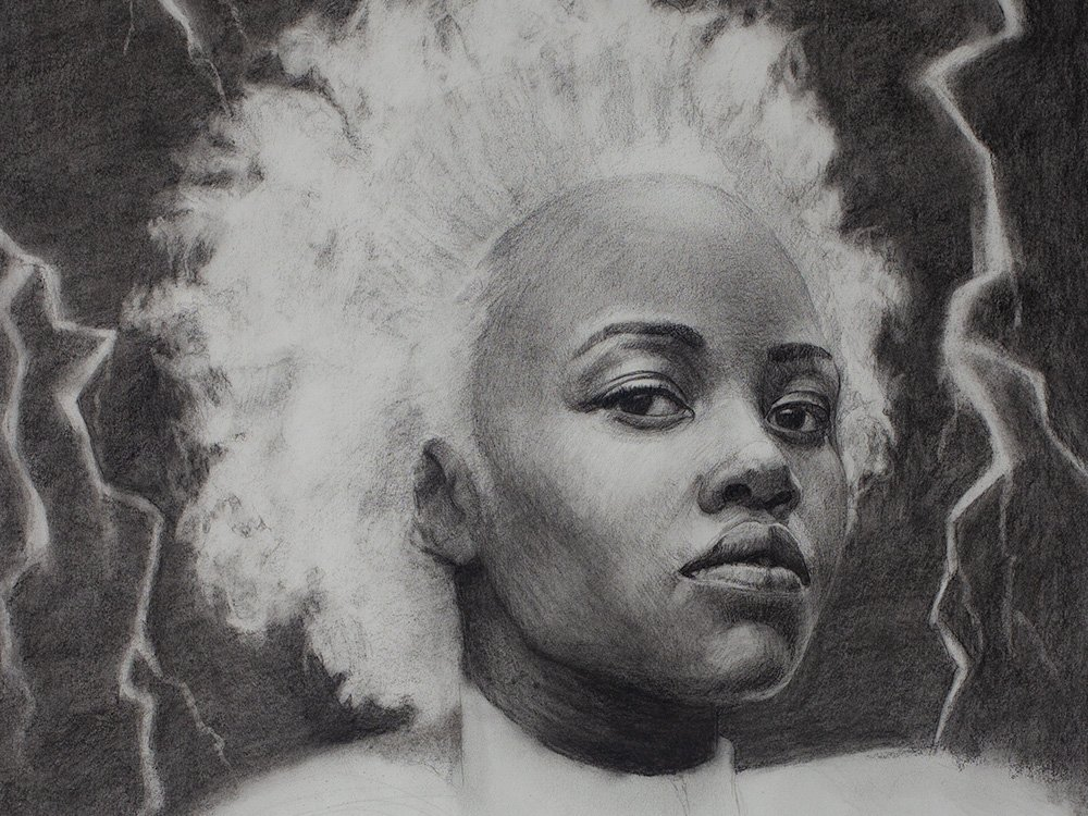 Storm drawing in charcoal cover