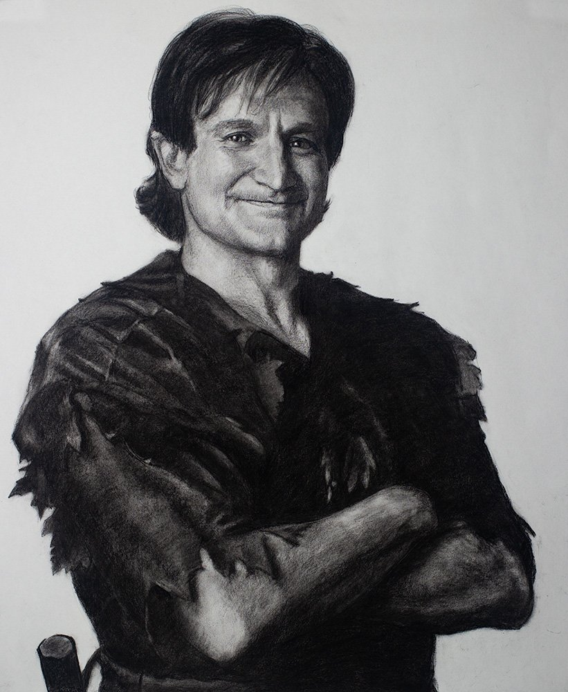 Robin Williams as Peter Pan Drawing
