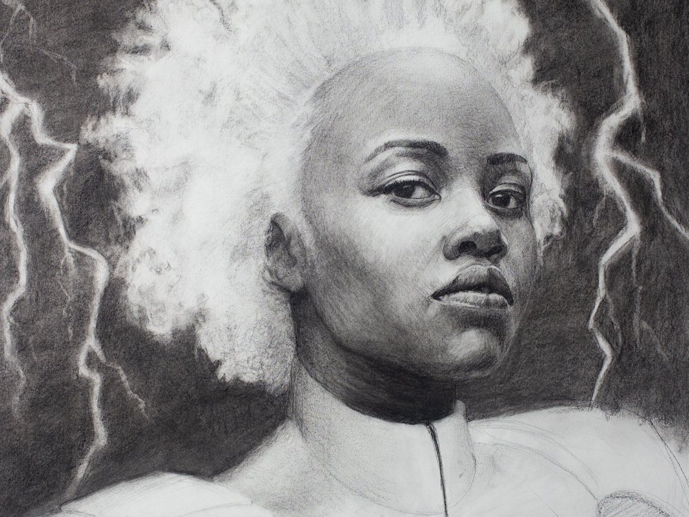 Charcoal Storm drawing cover