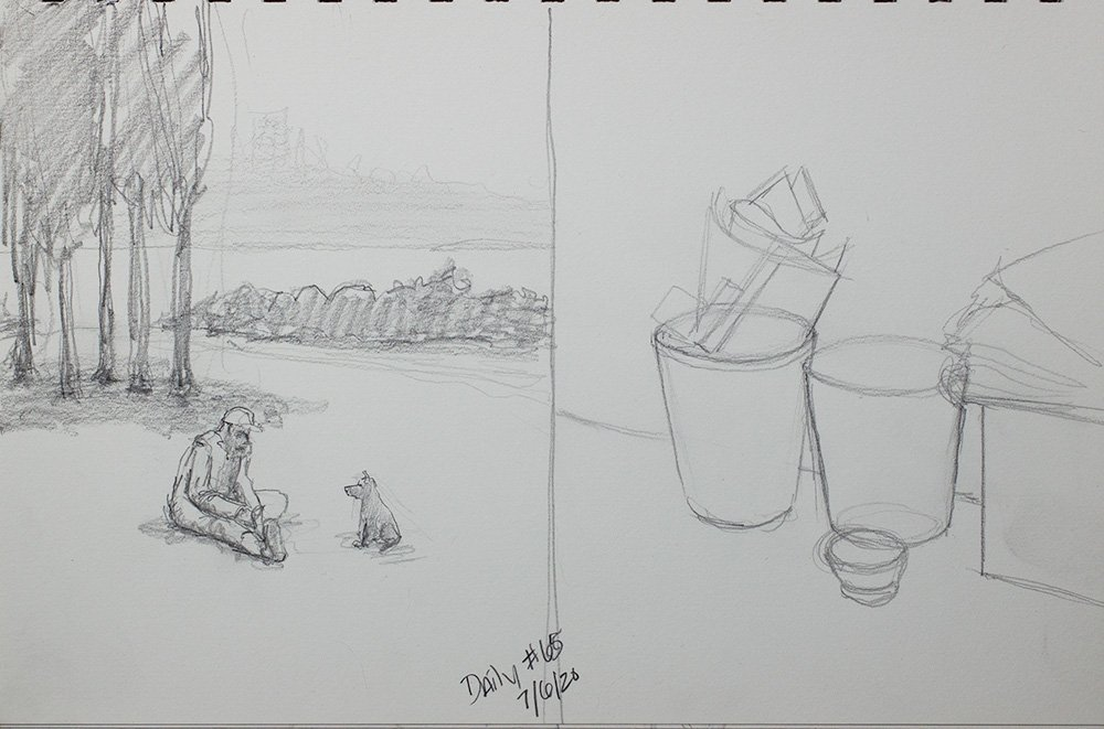daily composition and daily sketch