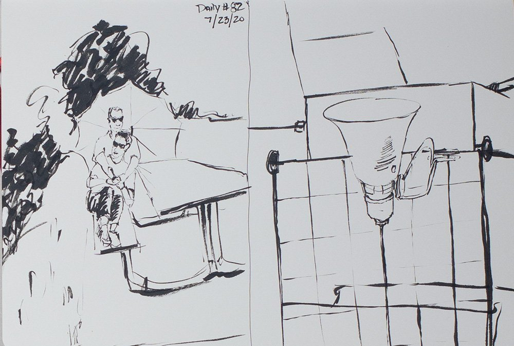 daily composition and sketch