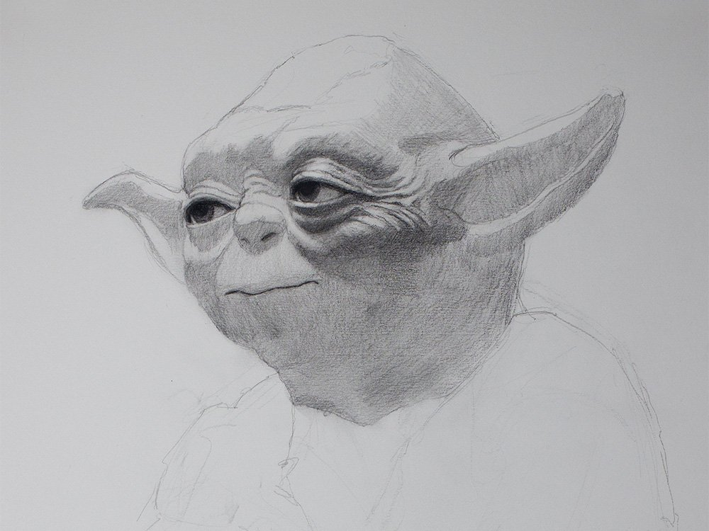 yoda drawing cover