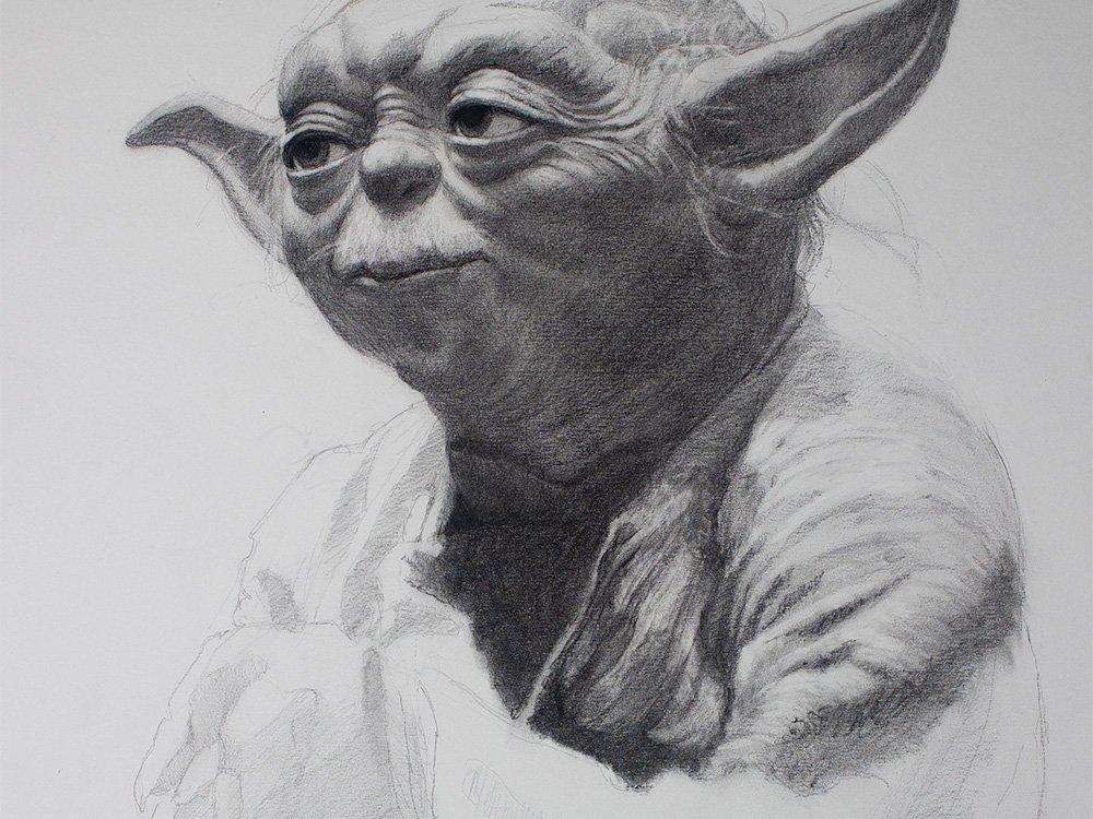 yoda cover drawing