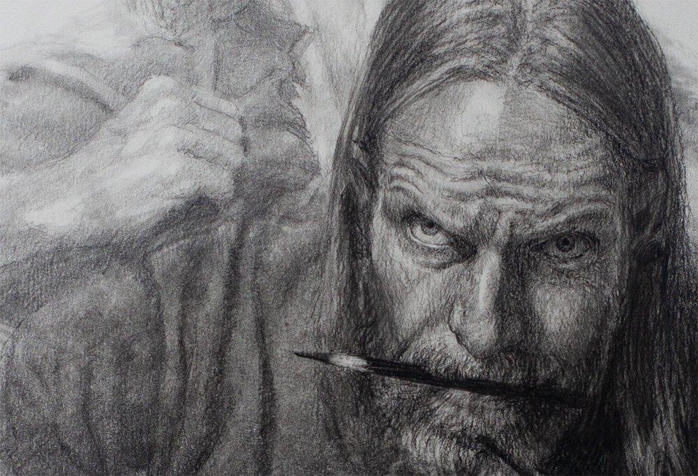 Self Portrait Relentless detail