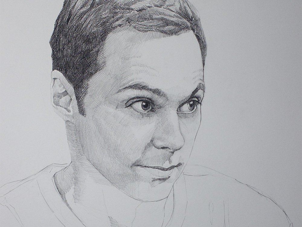Sheldon cooper drawing cover