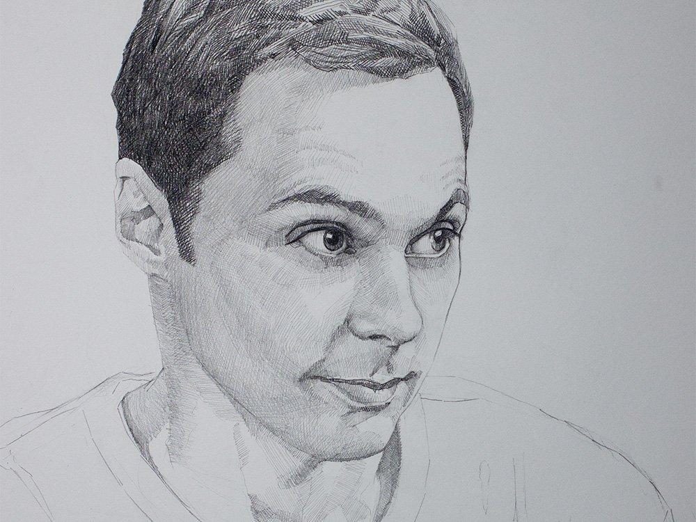 Sheldon cooper drawing