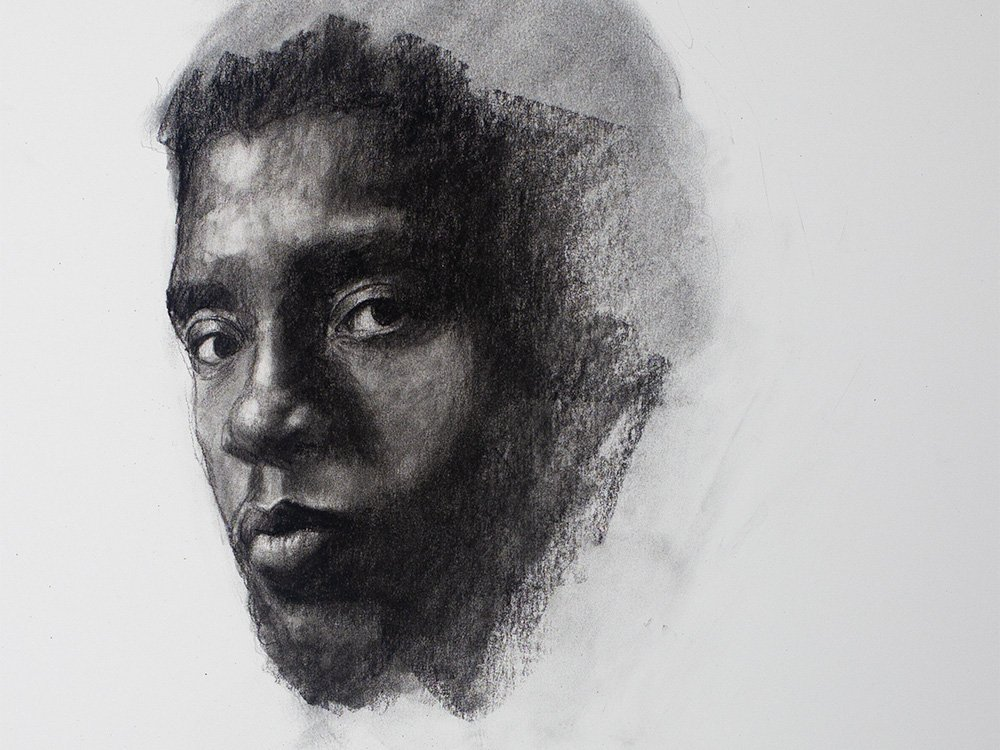 Black Panther Drawing in Charcoal cover
