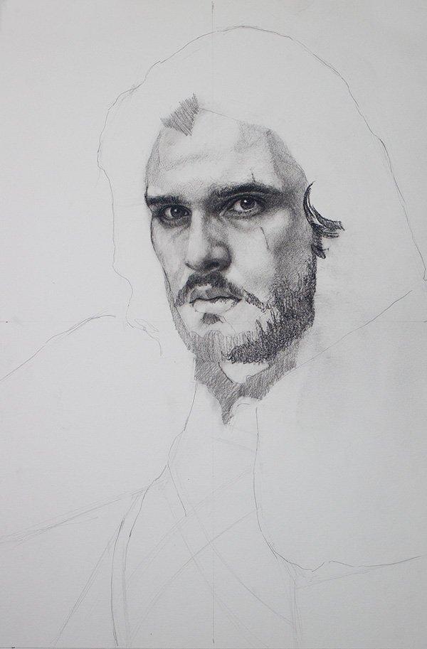 Jon Snow Drawing