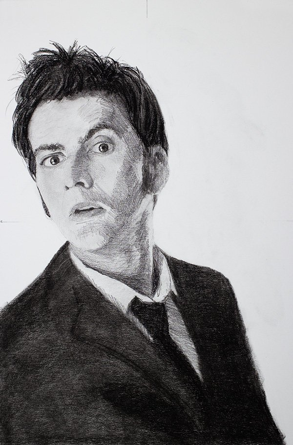 The Tenth Doctor David Tennant drawing
