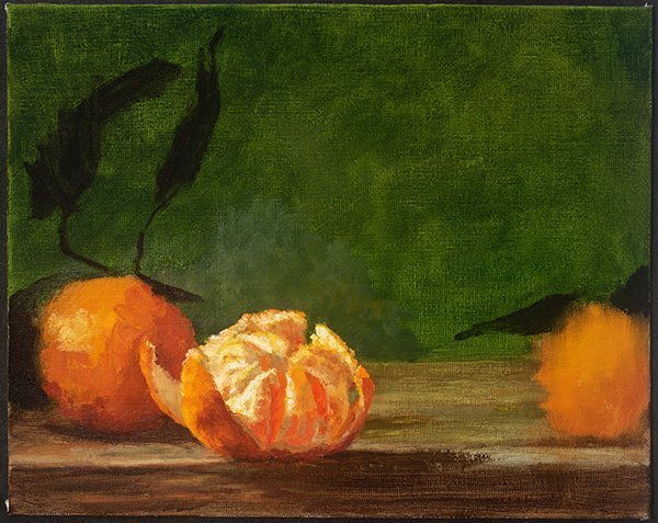 Satsumas Still life in oil