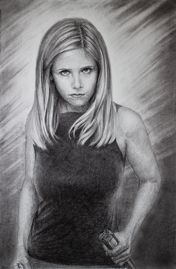Buffy the vampire slayer drawing