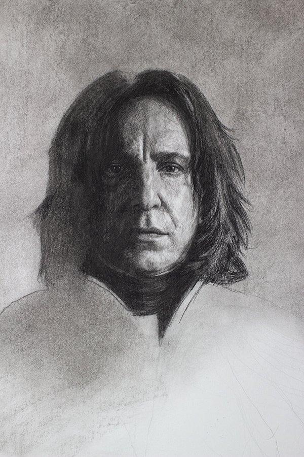 Serverus Snape Drawing detail