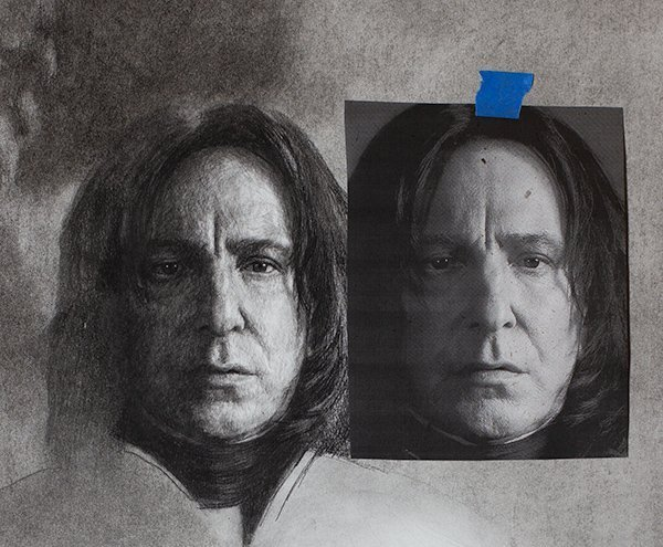 Serverus Snape Drawing compare