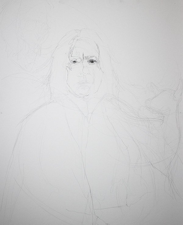 Serverus Snape Drawing